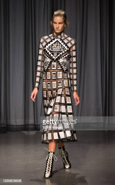 A model walks the runway at the Mary Katrantzou show during London Fashion Week Mary Katrantzou established her namesake brand in 2008 after studying...
