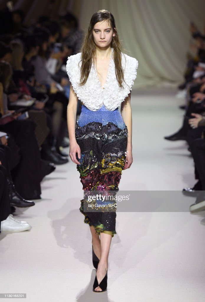 GBR: Mary Katrantzou - Runway - LFW February 2019