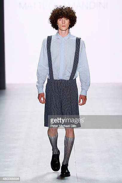 A model walks the runway at the Matteo Lamandini show 'Designer for Tomorrow' by Peek Cloppenburg and Fashion ID during the MercedesBenz Fashion Week...