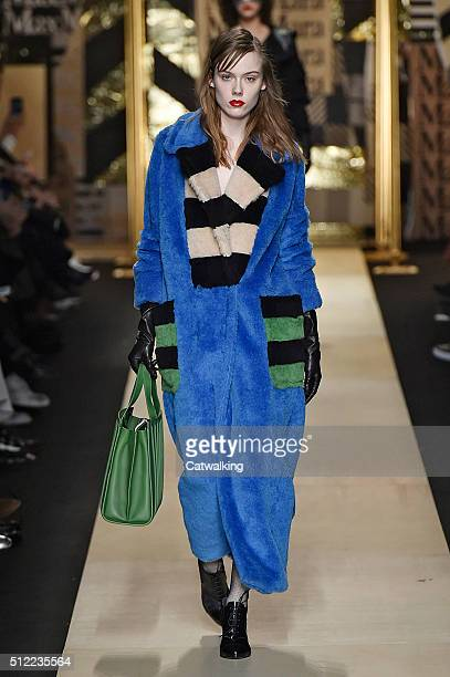 A model walks the runway at the Max Mara Autumn Winter 2016 fashion show during Milan Fashion Week on February 25 2016 in Milan Italy
