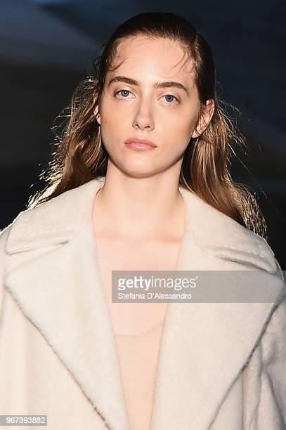 A model walks the runway at the Max Mara Resort Show 2019 at Collezione Maramotti on June 4 2018 in Reggio nell'Emilia Italy