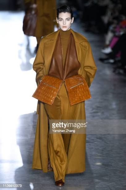 A model walks the runway at the Max Mara show at Milan Fashion Week Autumn/Winter 2019/20 on February 21 2019 in Milan Italy