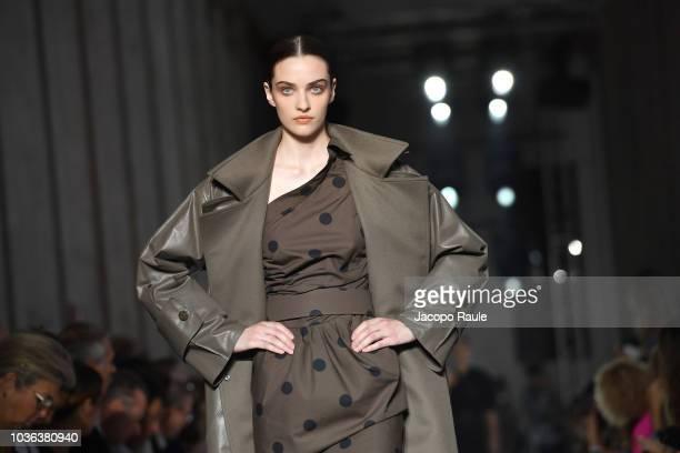 A model walks the runway at the Max Mara show during Milan Fashion Week Spring/Summer 2019 on September 20 2018 in Milan Italy