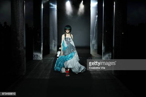 A model walks the runway at the MCM Fashion Show Spring/Summer 2019 during the 94th Pitti Immagine Uomo on June 13 2018 in Florence Italy