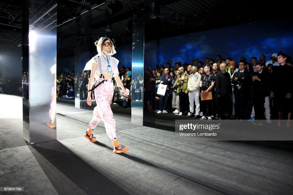 A model walks the runway at the MCM Fashion Show Spring/Summer 2019 during the 94th Pitti Immagine Uomo on June 13, 2018 in Florence, Italy.