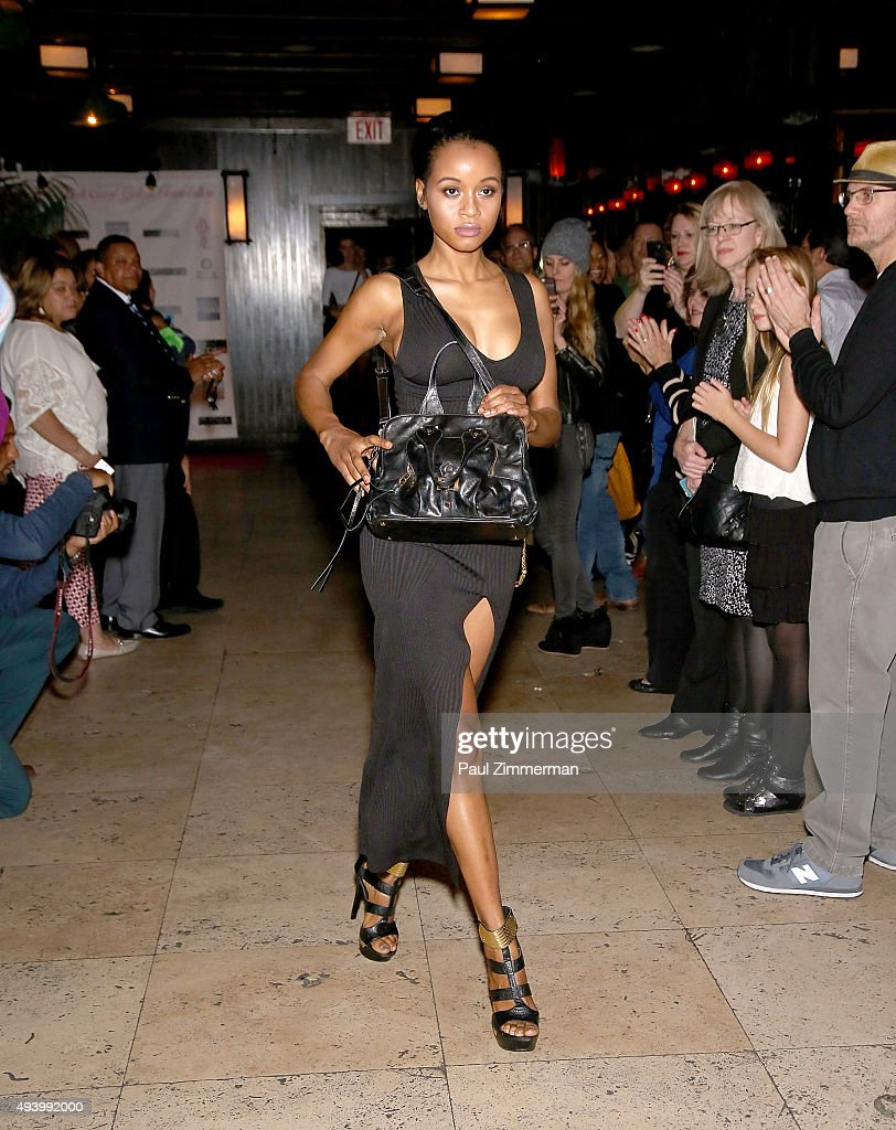 A model walks the runway at the Meredith O'Connor Album Release Party benefiting The Carol Galvin Foundation at The Park on October 23, 2015 in New York City.