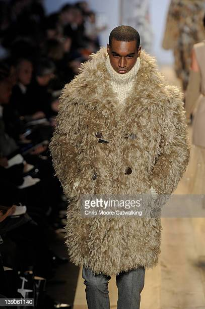 A model walks the runway at the Michael Kors Autumn Winter 2012 fashion show during New York Fashion Week on February 15 2012 in New York United...