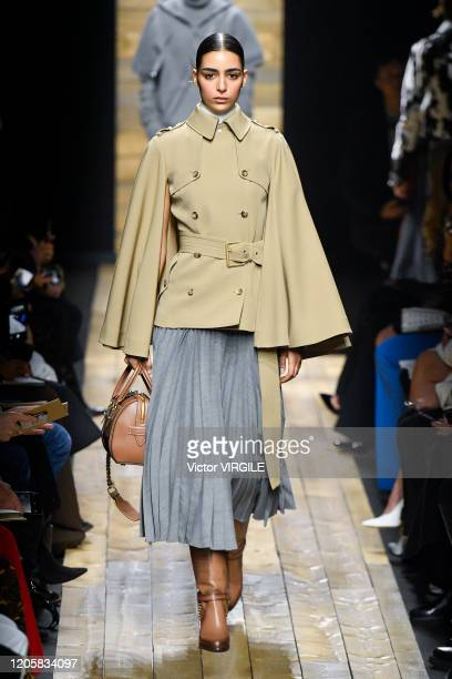 Model walks the runway at the Michael Kors Ready to Wear Fall/Winter 2020-2021 fashion show on February 12, 2020 in New York City.