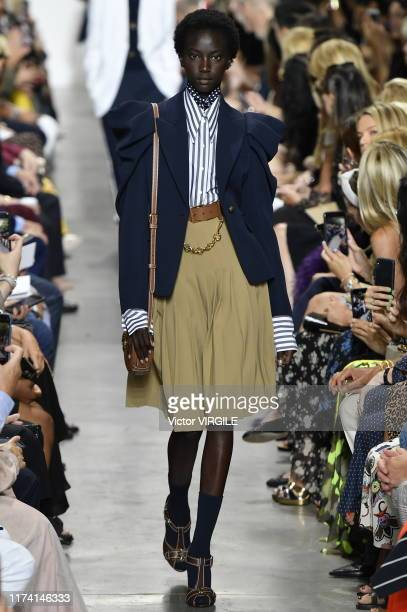 A model walks the runway at the Michael Kors Ready to Wear Spring/Summer 2020 fashion show during New York Fashion Week on September 11 2019 in New...