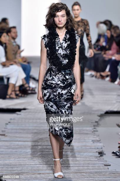 54711e0779be1 A model walks the runway at the Michael Kors Ready to Wear Spring Summer  2018