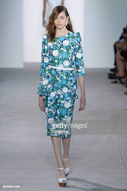 A model walks the runway at the Michael Kors Spring Summer 2017 fashion show during New York Fashion Week on September 14 2016 in New York United...