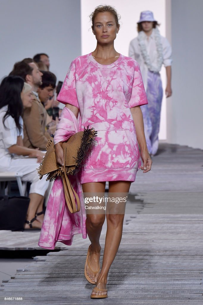 A model walks the runway at the Michael Kors Spring Summer 2018 fashion show during New York Fashion Week on September 13, 2017 in New York, United States.