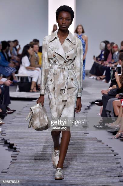 A model walks the runway at the Michael Kors Spring Summer 2018 fashion show during New York Fashion Week on September 13 2017 in New York United...