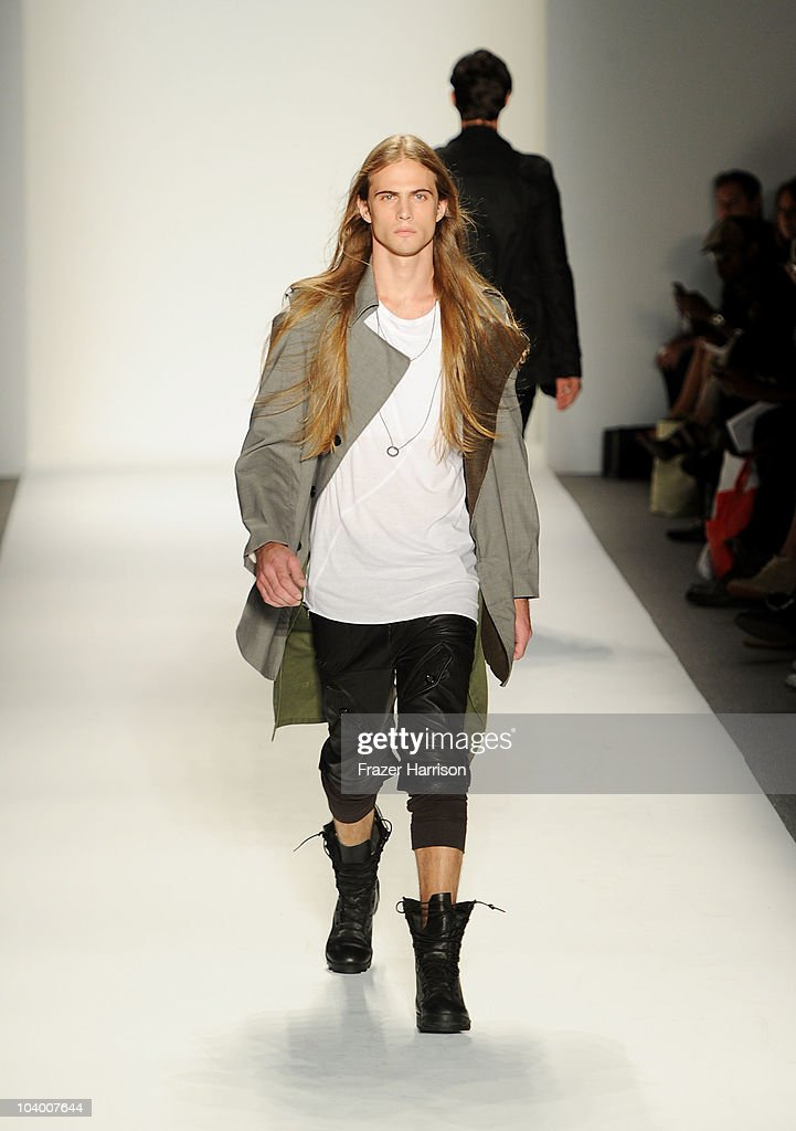 A model walks the runway at the Mik Cire by Eric Kim Spring 2011 fashion show during Mercedes-Benz Fashion Week at The Studio at Lincoln Center on September 11, 2010 in New York City.