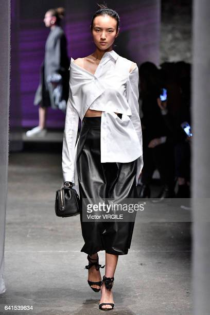 A model walks the runway at the Milly fashion show during New York Fashion Week Fall Winter 20172018 on February 10 2017 in New York City