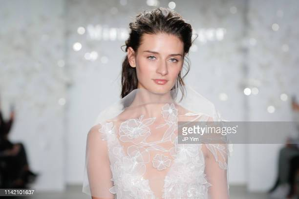 A model walks the runway at the Mira Zwillinger 2020 Collection during NYFW Bridal on April 11 2019 in New York City