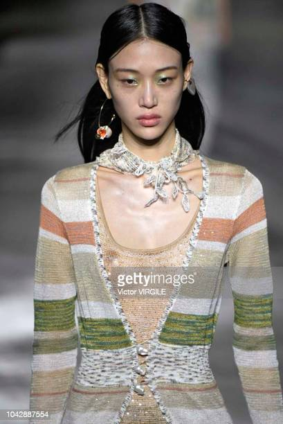 A model walks the runway at the Missoni Ready to Wear fashion show during Milan Fashion Week Spring/Summer 2019 on September 22 2018 in Milan Italy