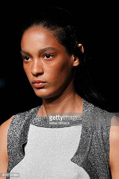 A model walks the runway at the Missoni Ready to Wear show during Milan Fashion Week Spring/Summer 2017 on September 25 2016 in Milan Italy