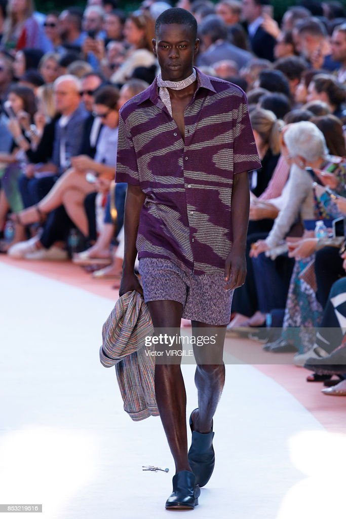 A model walks the runway at the Missoni Ready to Wear Spring/Summer 2018 fashion show during Milan Fashion Week Spring/Summer 2018 on September 23, 2017 in Milan, Italy.