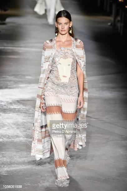 A model walks the runway at the Missoni show during Milan Fashion Week Spring/Summer 2019 on September 22 2018 in Milan Italy