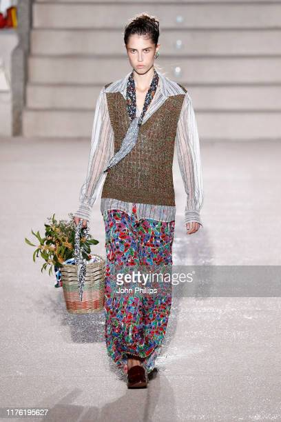 Model walks the runway at the Missoni show during the Milan Fashion Week Spring/Summer 2020 on September 21, 2019 in Milan, Italy.