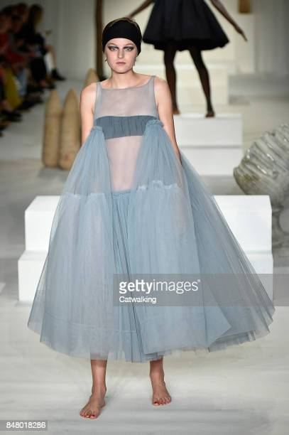 A model walks the runway at the Molly Goddard Spring Summer 2018 fashion show during London Fashion Week on September 16 2017 in London United Kingdom