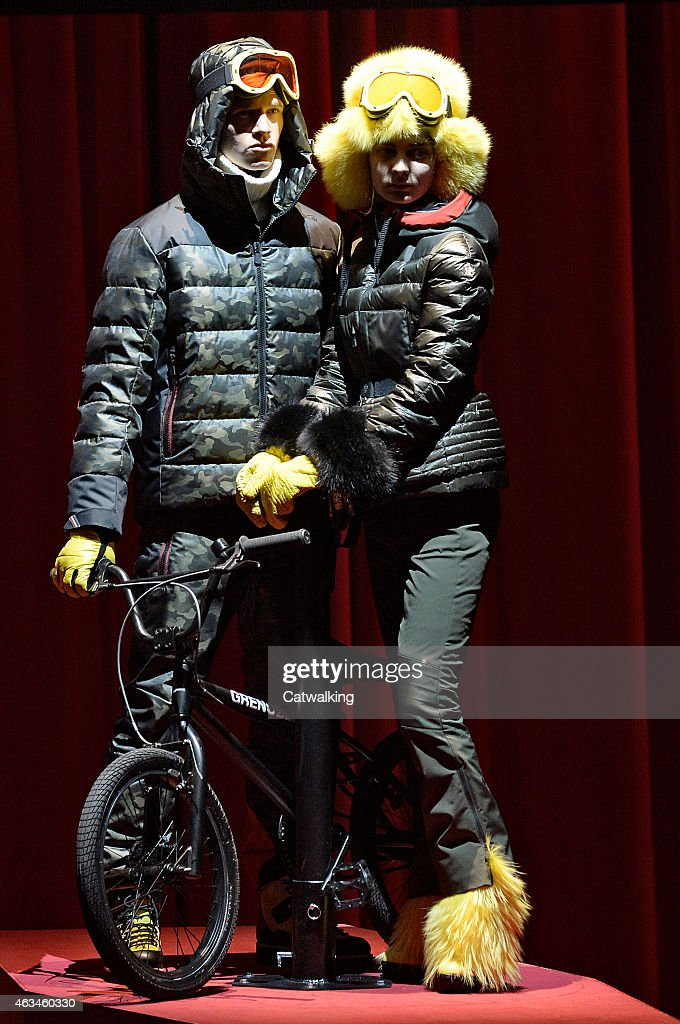 buy online a27b3 c3561 A model walks the runway at the Moncler Grenoble Autumn ...