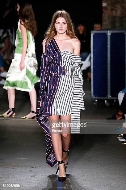 A model walks the runway at the Monse designed by Laura Kim Fernando Garcia show at Art Beam on September 9 2016 in New York City