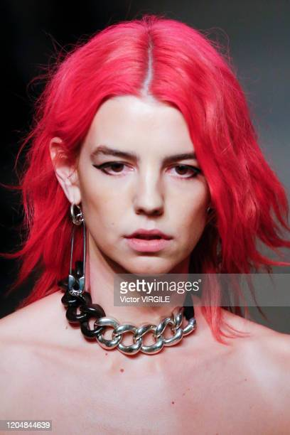 A model walks the runway at the Monse Ready to Wear Fall/Winter 20202021 fashion show New York Fashion Week on February 07 2020 in New York City