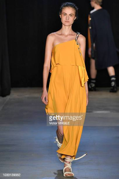 A model walks the runway at the Monse Spring/Summer 2019 fashion show during New York Fashion Week on September 7 2018 in New York City
