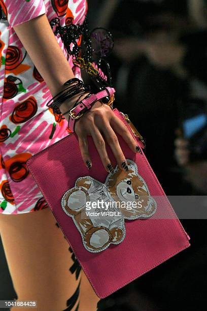 A model walks the runway at the Moschino Ready to Wear fashion show during Milan Fashion Week Spring/Summer 2019 on September 20 2018 in Milan Italy