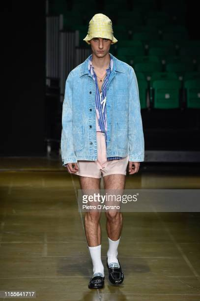 A model walks the runway at the MSGM fashion show at Pitti Immagine Uomo 96 on June 13 2019 in Florence Italy