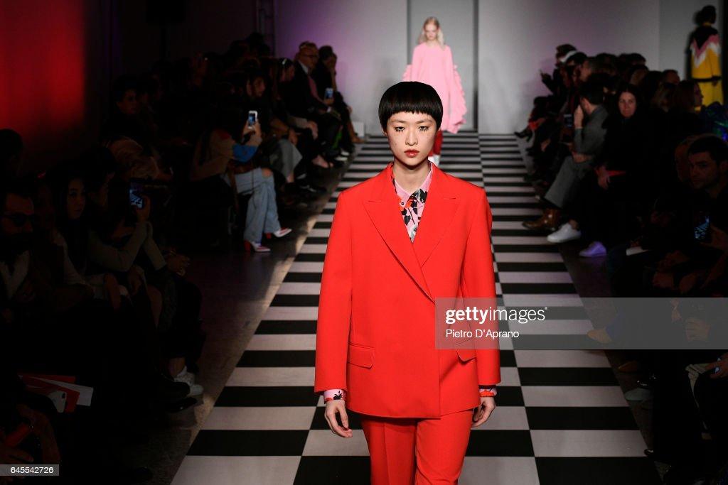 MSGM - Runway - Milan Fashion Week Fall/Winter 2017/18 : News Photo