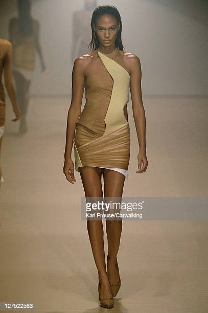 A model walks the runway at the Mugler Spring Summer 2012 fashion show during Paris Fashion Week on September 28 2011 in Paris France