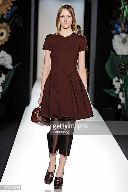 A model walks the runway at the Mulberry Autumn Winter 2013 fashion show during London Fashion Week on February 17 2013 in London United Kingdom