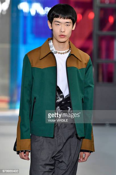 A model walks the runway at the N21 fashion show during Milan Men's Fashion Week Spring/Summer 2019 on June 18 2018 in Milan Italy