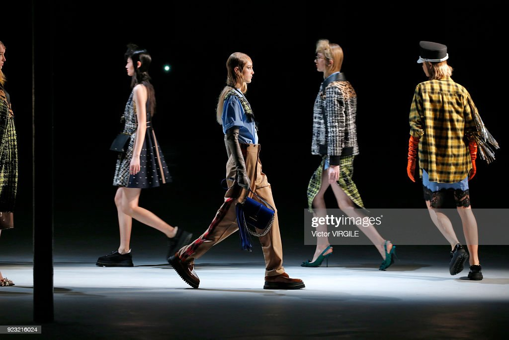 A model walks the runway at the N.21 Ready to Wear Fall/Winter 2018-2019 fashion show during Milan Fashion Week Fall/Winter 2018/19 on February 21, 2018 in Milan, Italy.