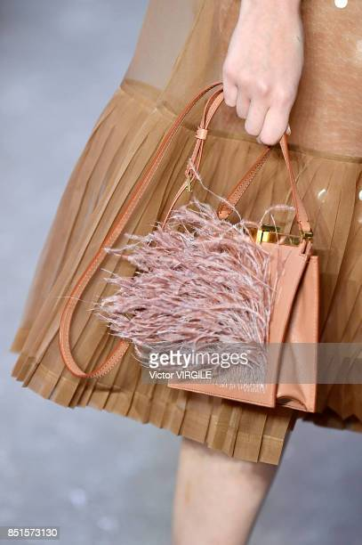 A model walks the runway at the N21 Ready to Wear Spring/Summer 2018 fashon show during Milan Fashion Week Spring/Summer 2018 on September 20 2017 in...