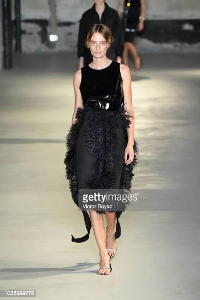 Headshot at the N21 show during Milan Fashion Week Spring/Summer 2019 on September 19 2018 in Milan Italy