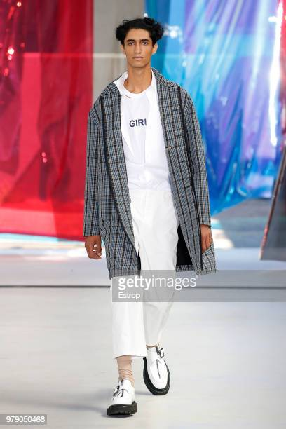 A model walks the runway at the N21 show during Milan Men's Fashion Week Spring/Summer 2019 on June 18 2018 in Milan Italy