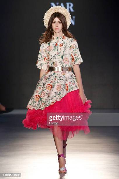 A model walks the runway at the Narbon show during Barcelona 080 Fashion Week Spring/Summer 2020 on June 27 2019 in Barcelona Spain
