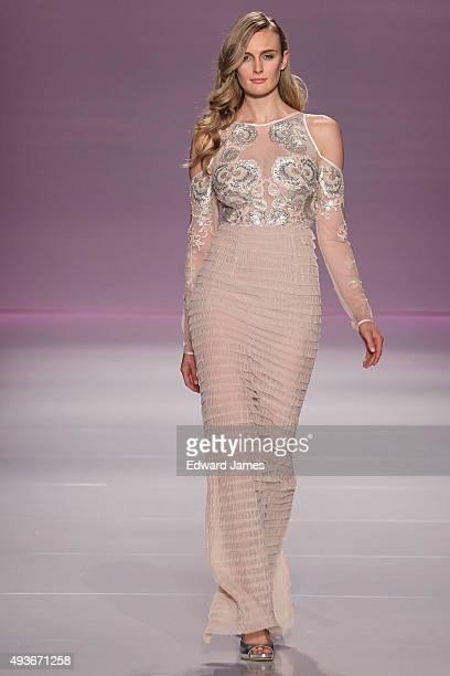 A model walks the runway at the Narces Spring/Summer 2016 fashion show during World Mastercard fashion week on October 21 2015 at David Pecaut Square...