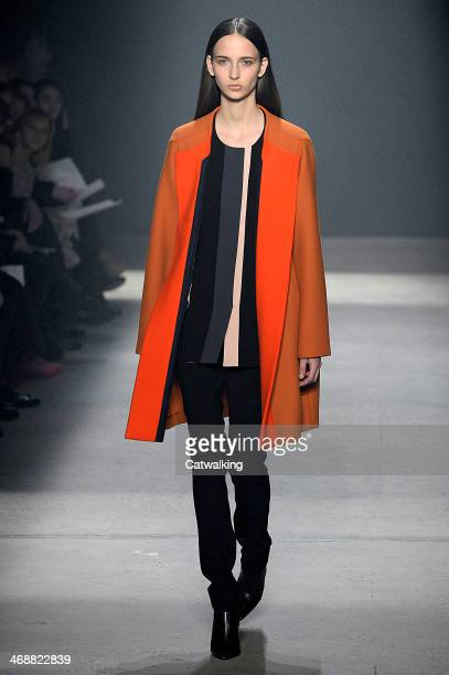 A model walks the runway at the Narciso Rodriguez Autumn Winter 2014 fashion show during New York Fashion Week on February 11 2014 in New York United...
