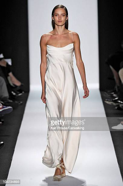 A model walks the runway at the Narciso Rodriguez Spring Summer 2011 fashion show during New York Fashion Week on September 14 2010 in New York City
