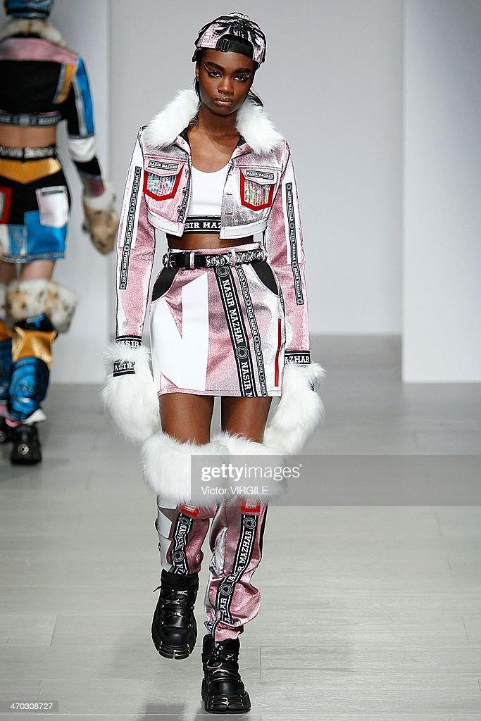 Nasir Mazhar: Runway - London Fashion Week AW14 : News Photo