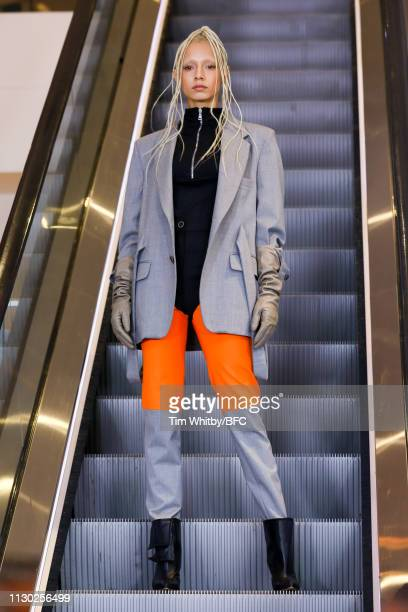 A model walks the runway at the Natasha Zinko show during London Fashion Week February 2019 on February 17 2019 in London England