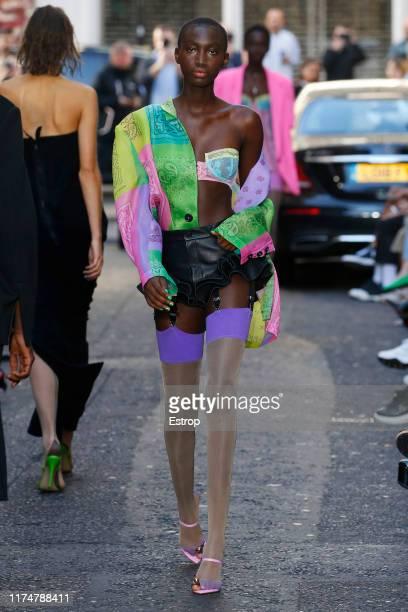 A model walks the runway at the Natasha Zinko show during London Fashion Week September 2019 on September 15 2019 in London England