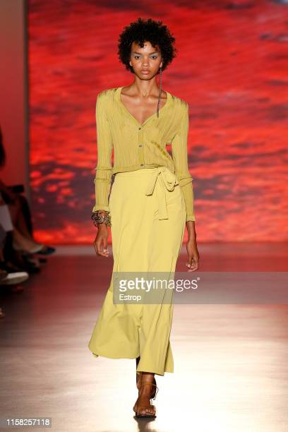 A model walks the runway at the Naulover show during Barcelona 080 Fashion Week Spring/Summer 2020 on June 25 2019 in Barcelona Spain