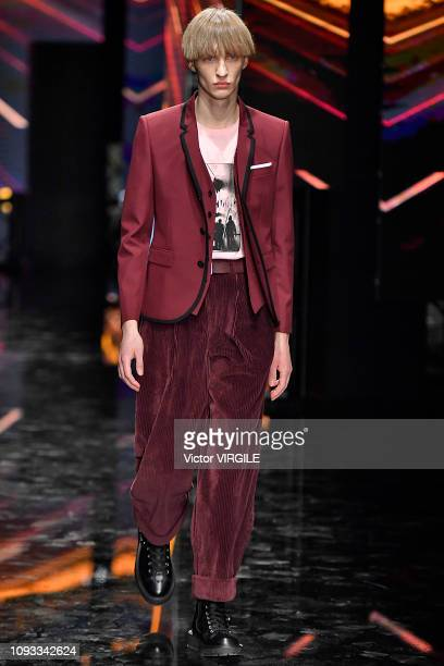 A model walks the runway at the Neil Barrett fashion show during Milan Menswear Fashion Week Autumn/Winter 2019/20 on January 12 2019 in Milan Italy