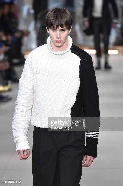 A model walks the runway at the Neil Barrett fashion show on January 11 2020 in Milan Italy